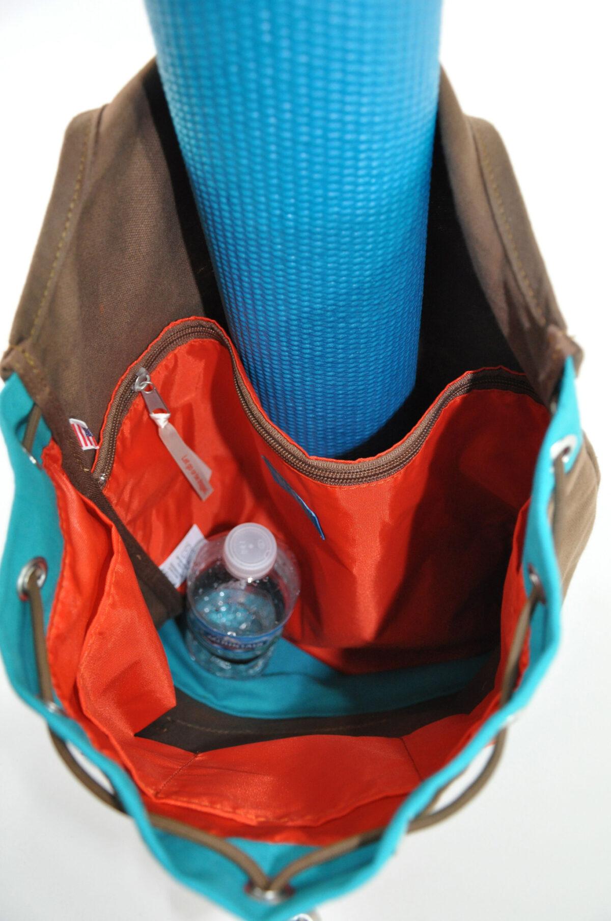 YESNESS Canvas Ganesha Crossbody Duffle/Yoga Mat Bag