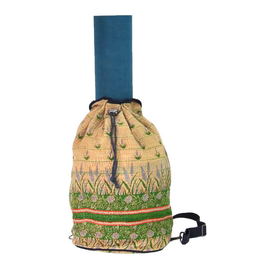 YESNESS Kantha Ganesha Crossbody Duffle/Yoga Mat Bag