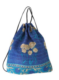 Kantha Wabi Drawstring Bag