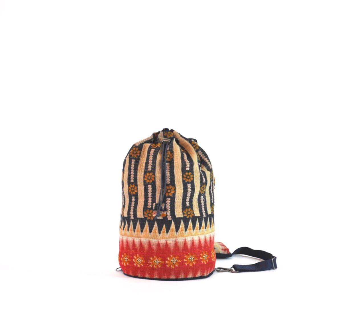 YESNESS Indigo & Cream Vertical Stripes w:Red Band 4