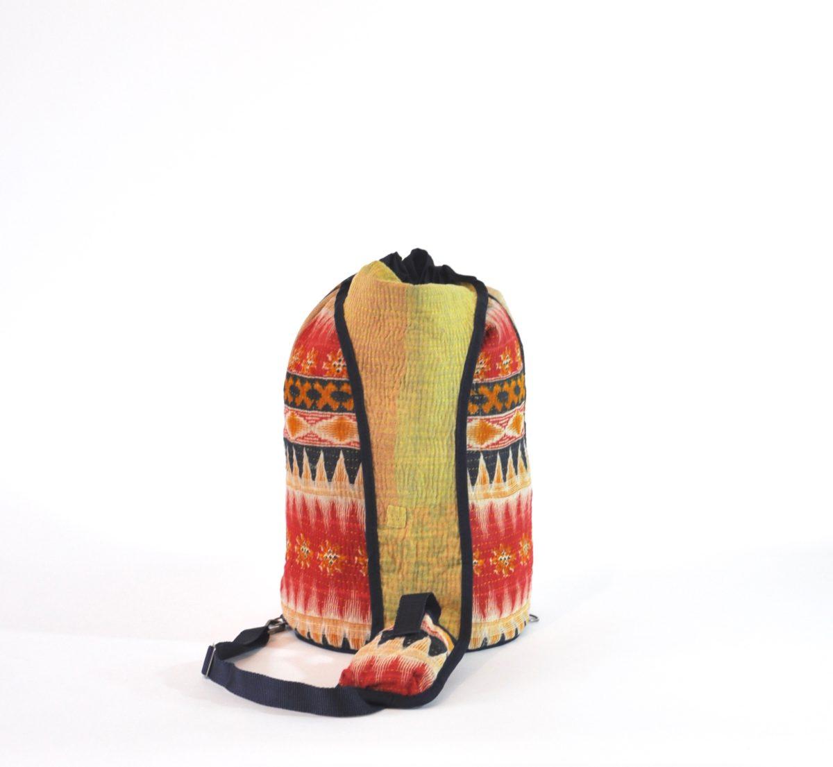 YESNESS Indigo & Cream Vertical Stripes w:Red Band 5
