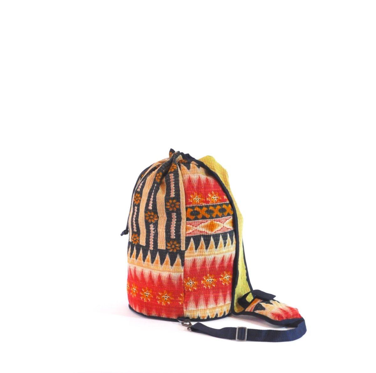 YESNESS Indigo & Cream Vertical Stripes w:Red Band 6