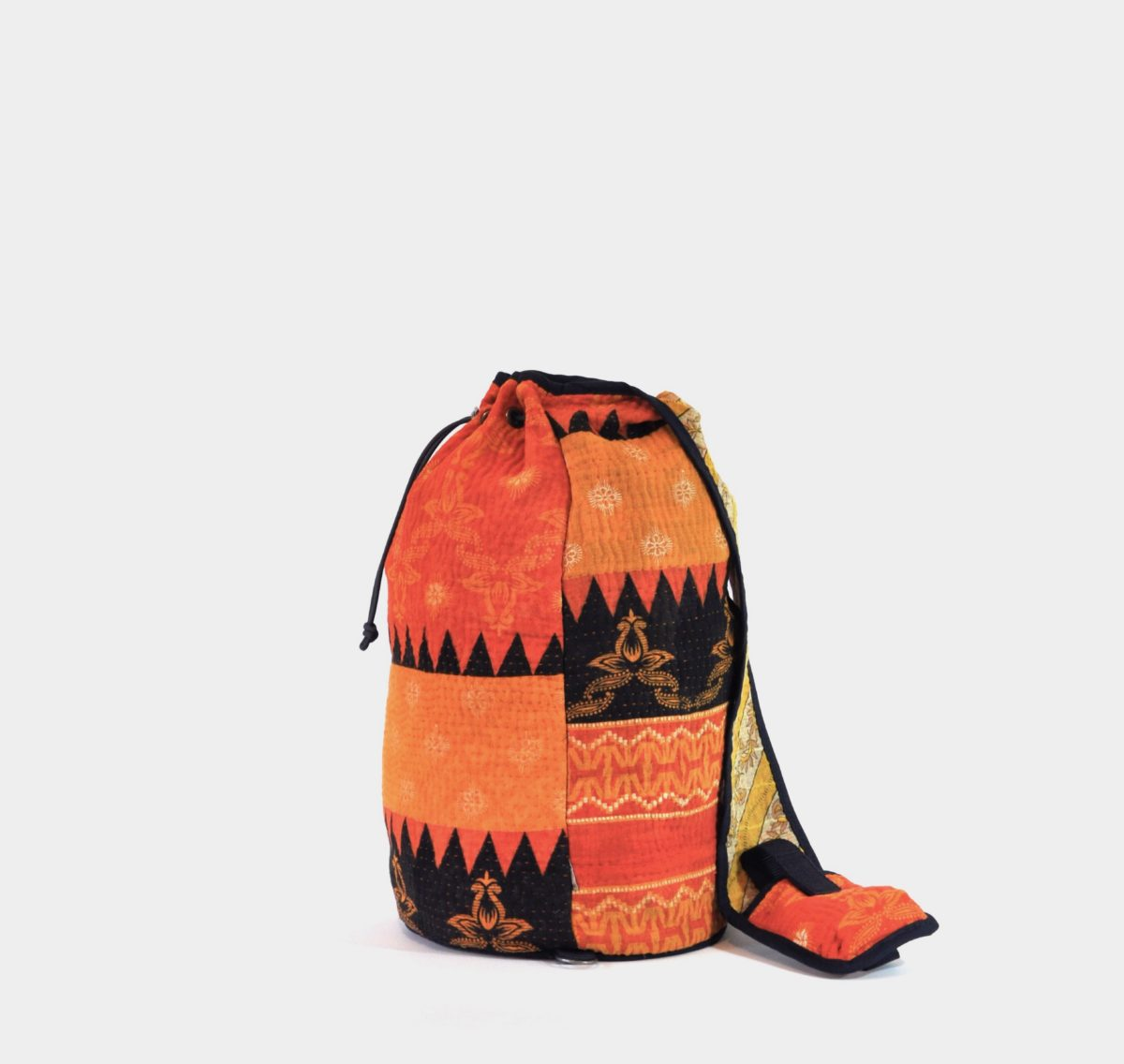 YESNESS Saffron, Orange & Black Colorblock 6