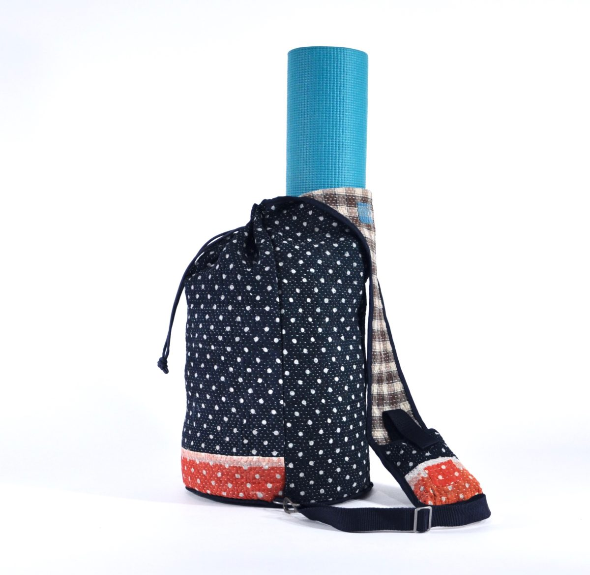 YESNESS Navy w: White Polka Dots & Red Band 3