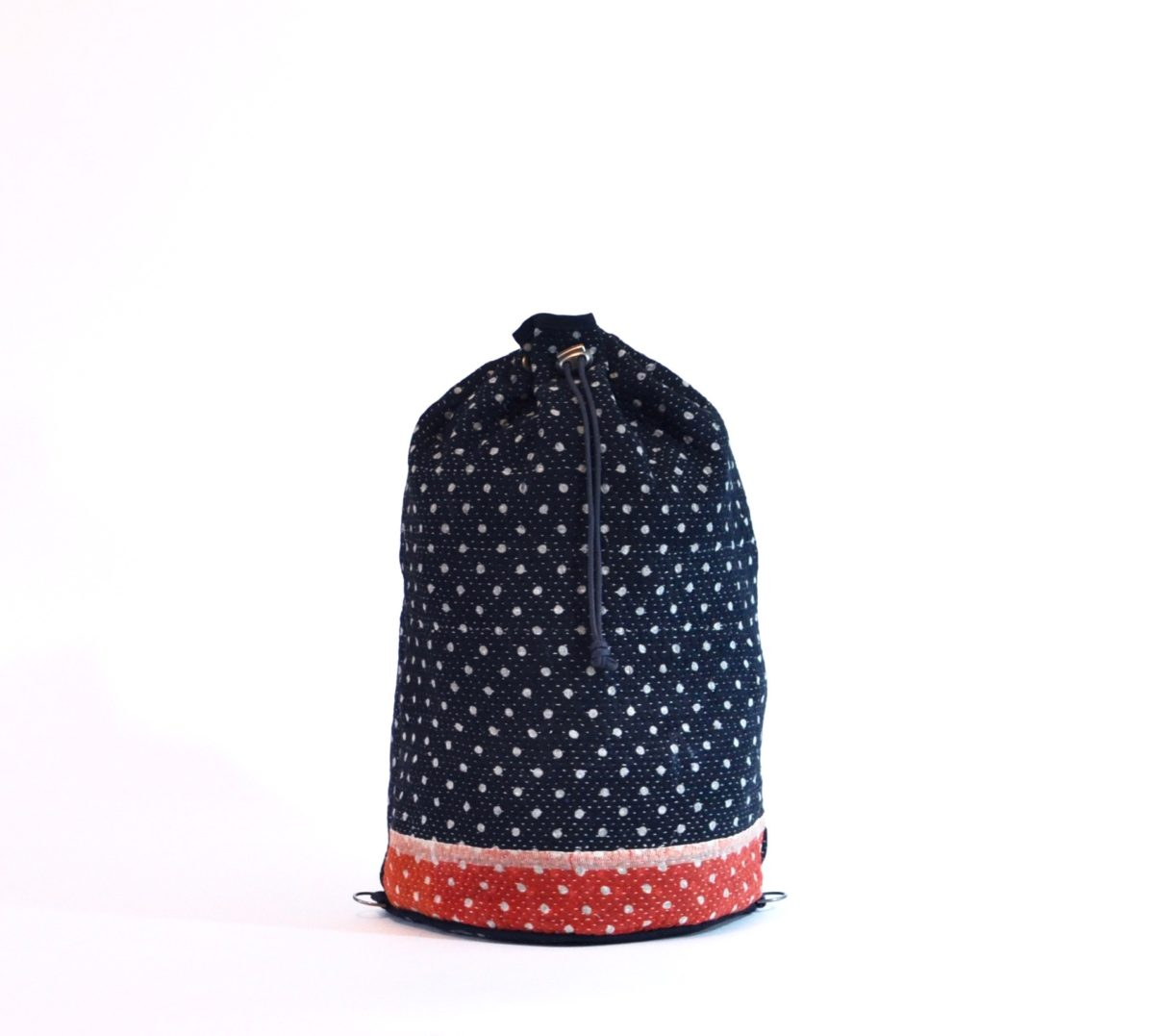 YESNESS Navy w: White Polka Dots & Red Band 4
