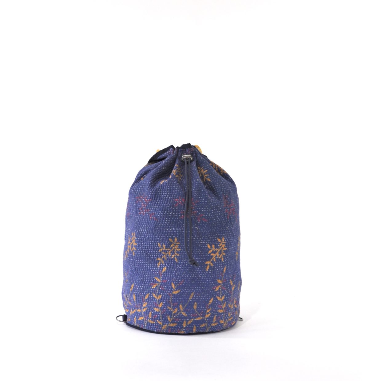 YESNESS Periwinkle Blue w: Yellow & Pink Leaves 4