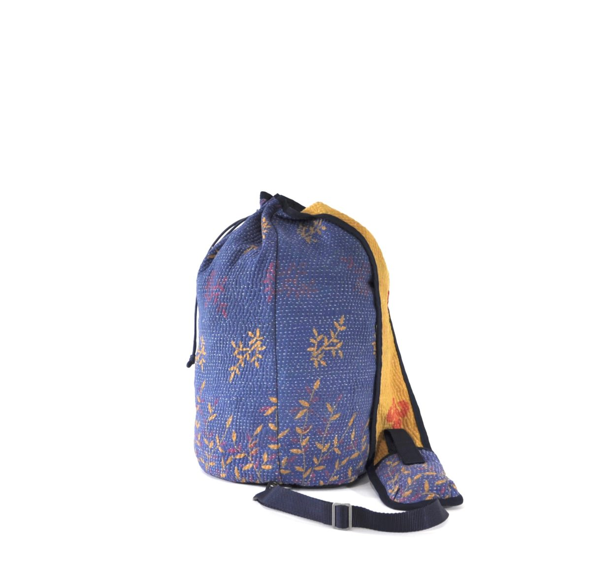 YESNESS Periwinkle Blue w: Yellow & Pink Leaves 6