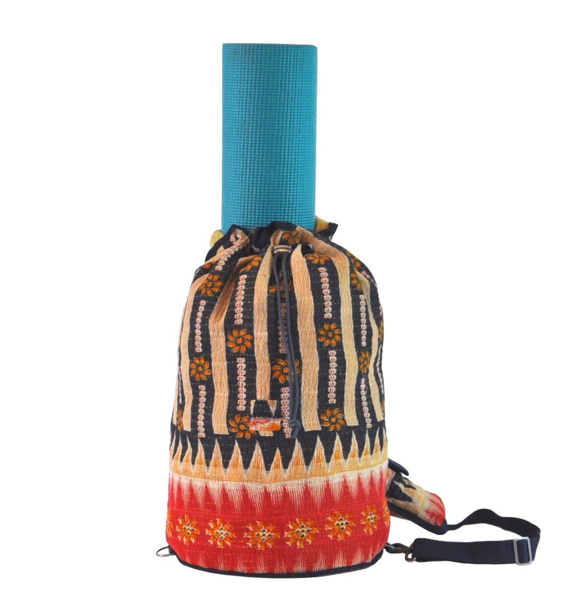 YESNESS Indigo & Cream Vertical Stripes w:Red Band 1