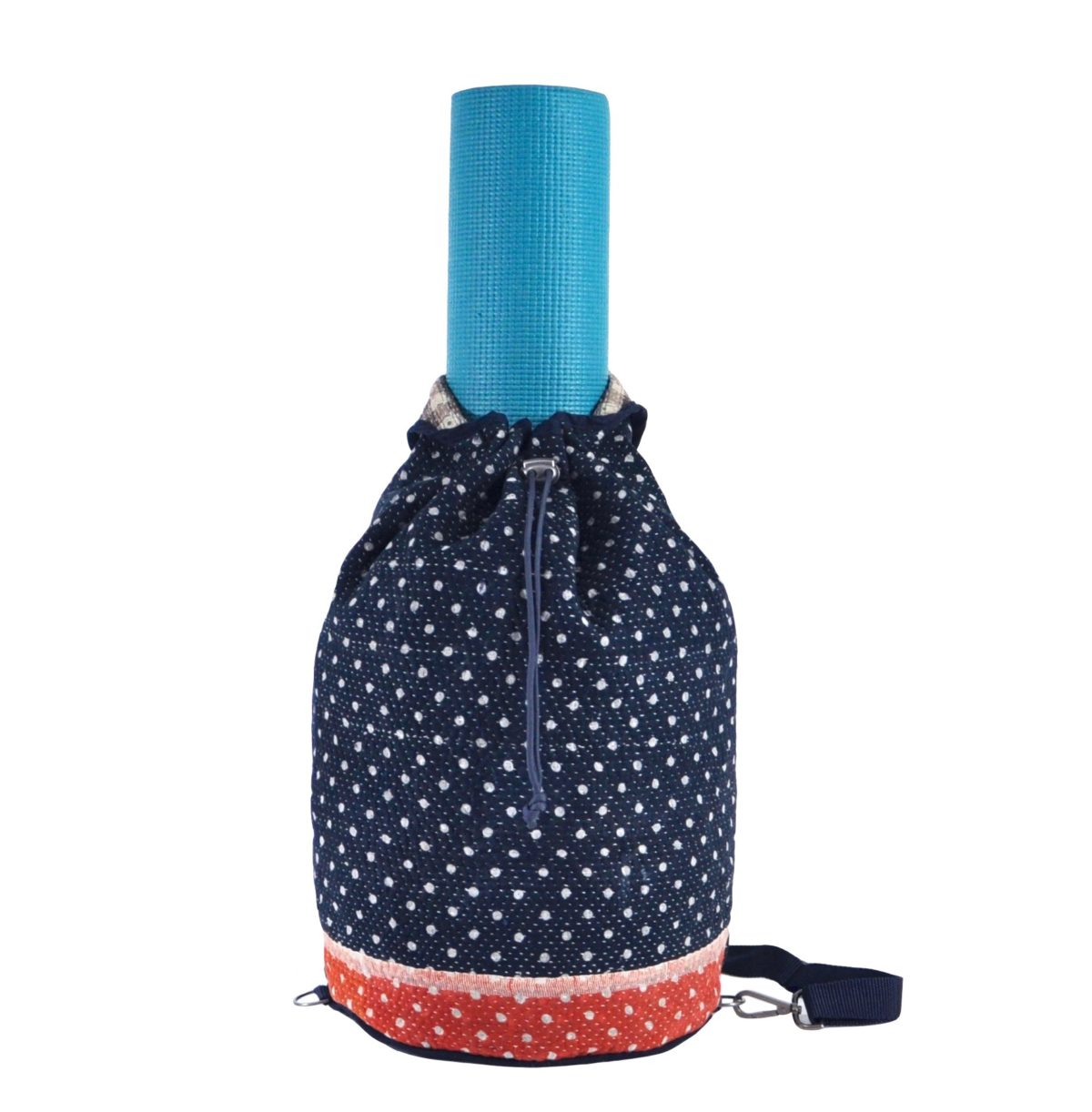 YESNESS Navy w: White Polka Dots & Red Band 1