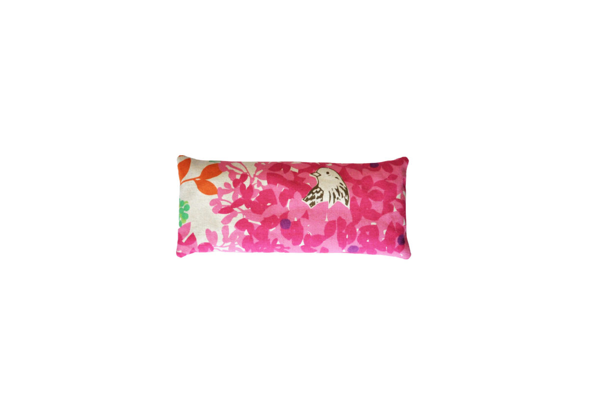 Beige with Pinke Leaves and Bird eyepillows