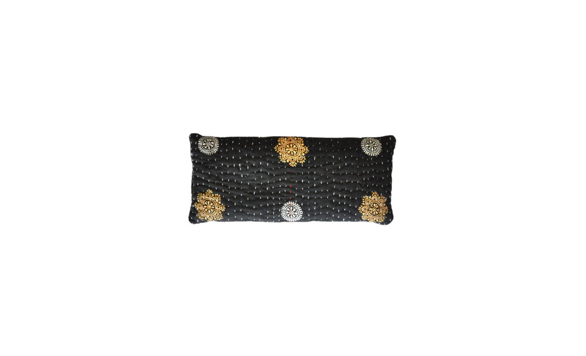 Black with Gold and Silver Medallions eyepillow
