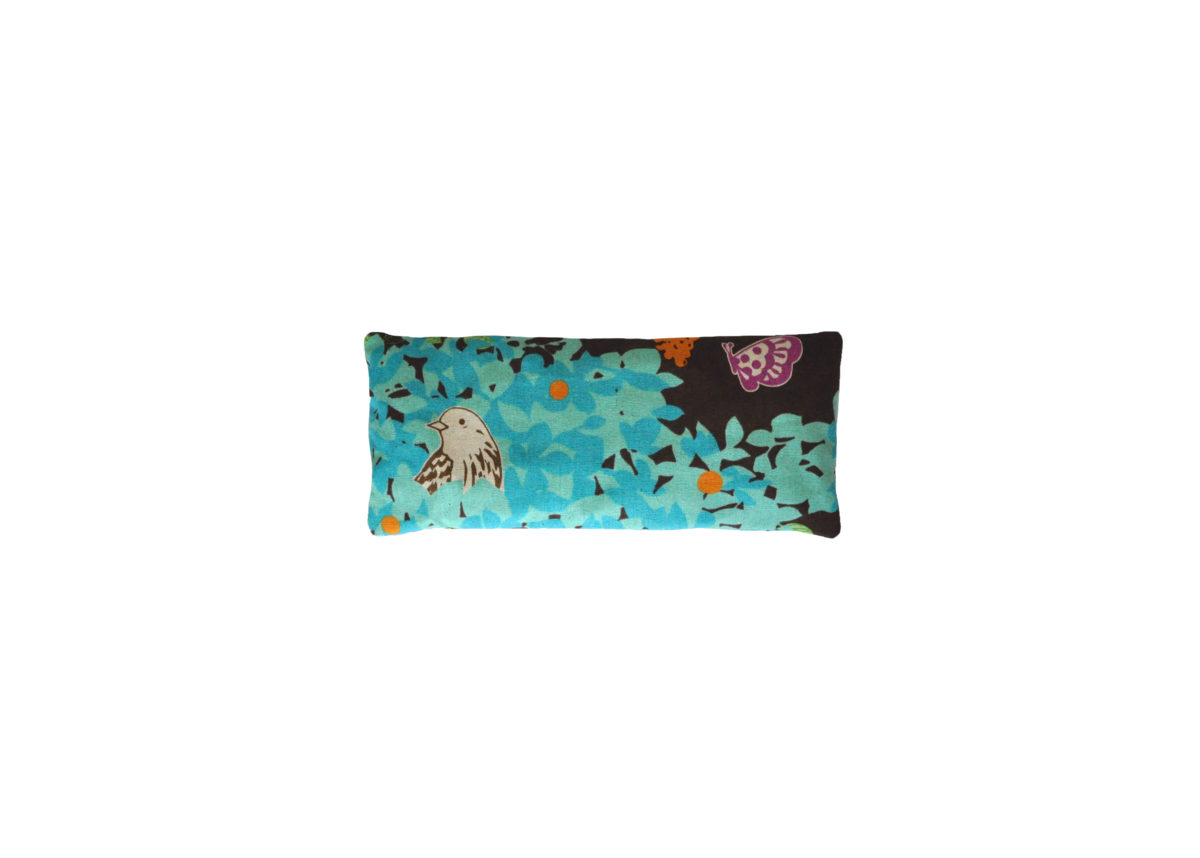 Brown and Teal with bird eyepillow