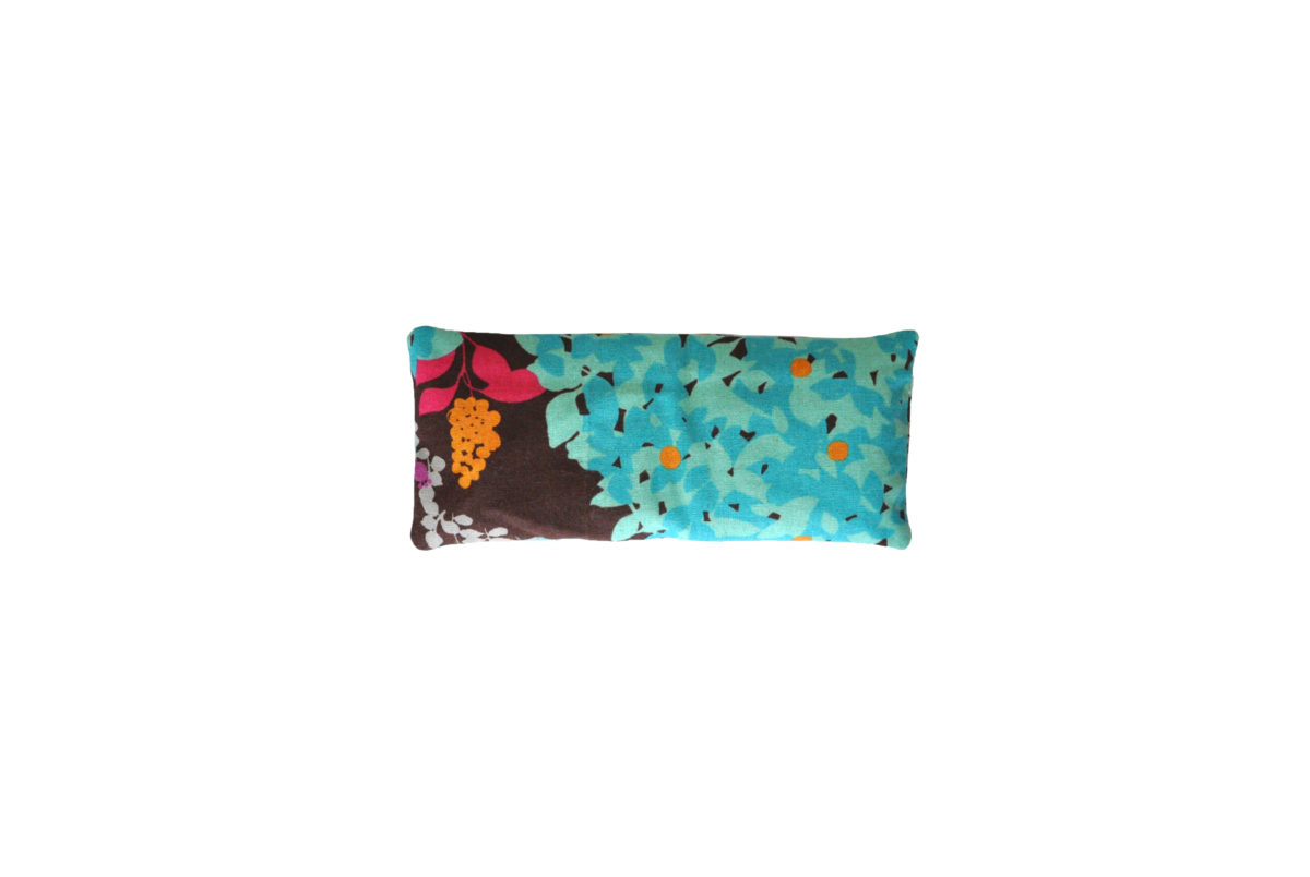 Brown with turquoise leaves eyepillow