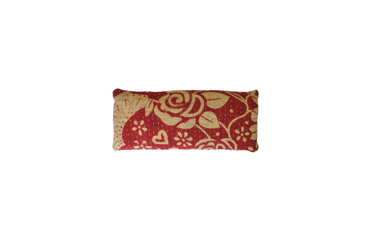 Cream with red roses eyepillow