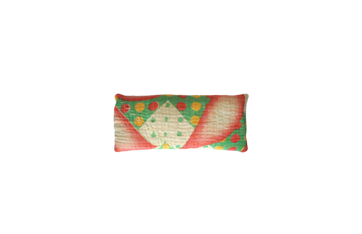 Green and Peach with polkadots eyepillows