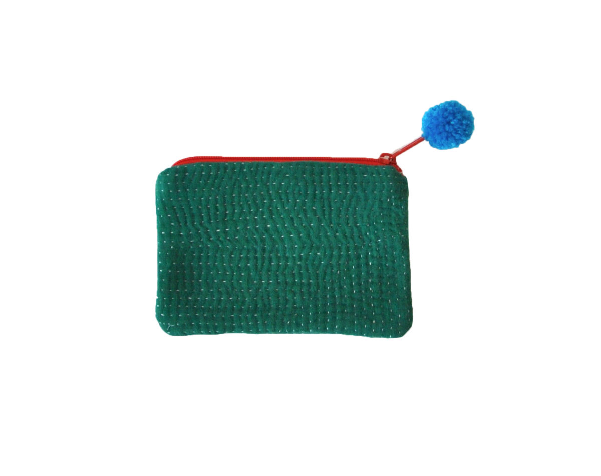 Green small pouch