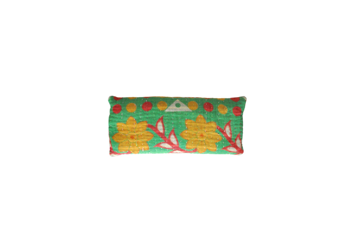 Green with yellow flowers eyepillow