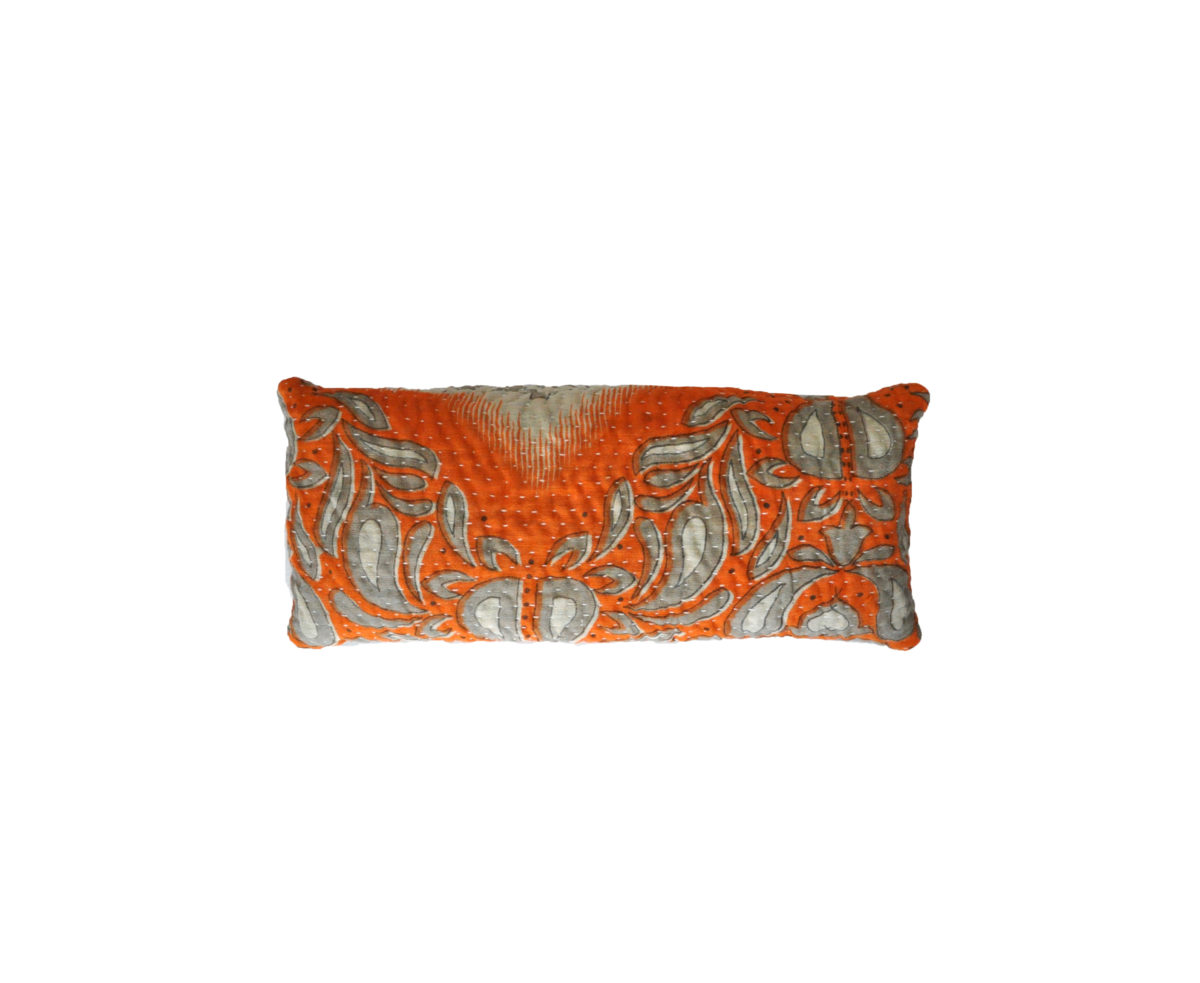 Orange & Cream Chevron Eye Pillow