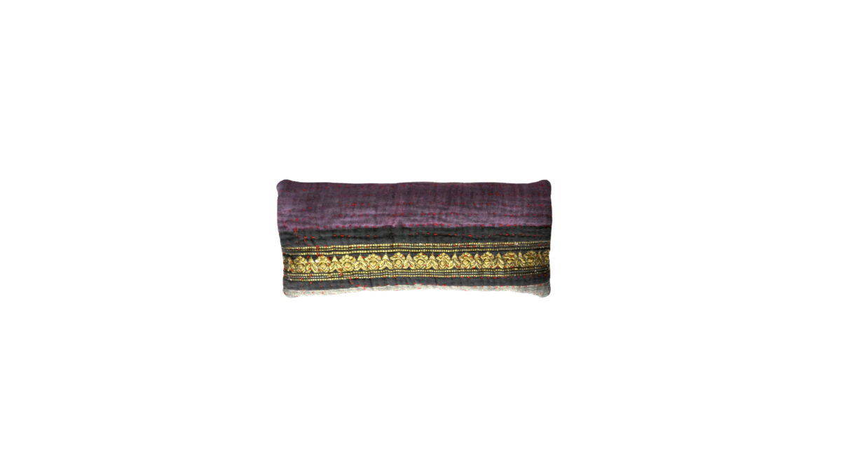 Purple with Black and Gold Band eyepillow