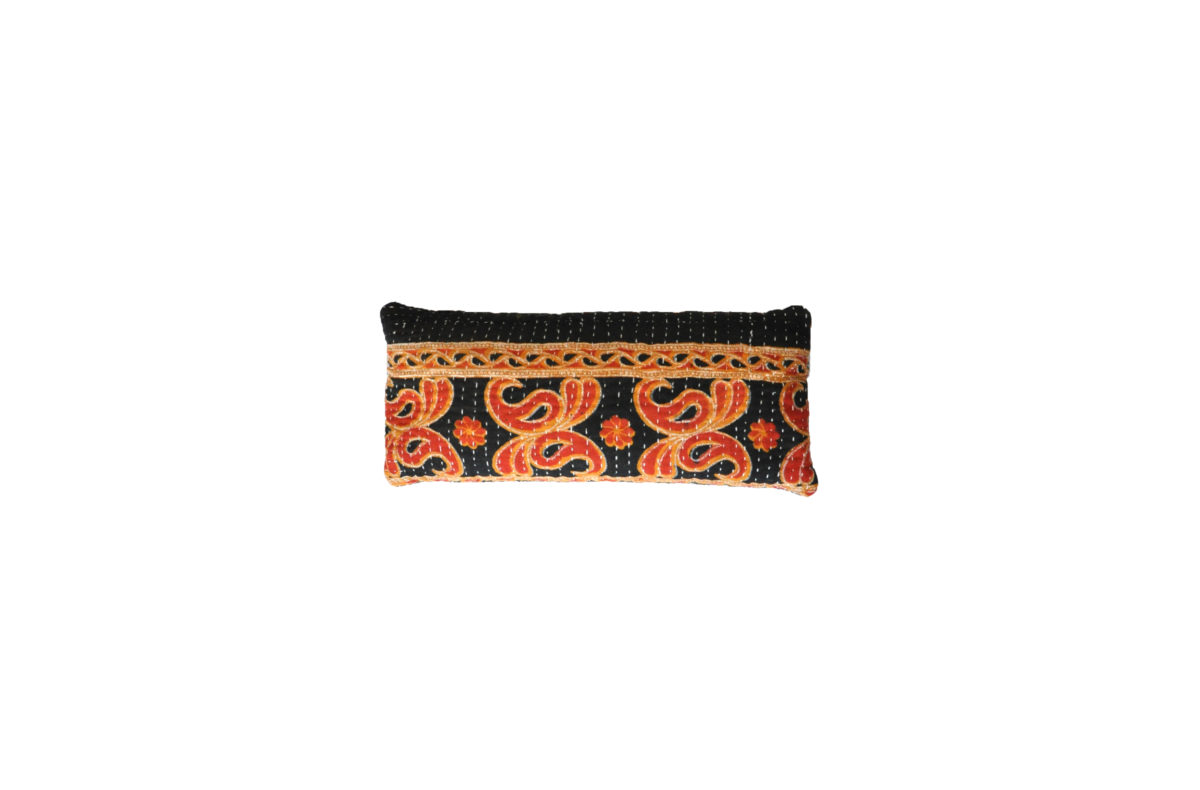 Red Saffron and Black Multi Motif eyepillows