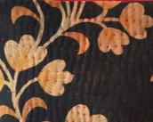 INDIGO W/ SAFFRON VINES & FLOWERS