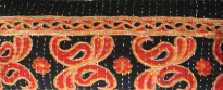 RED, SAFFRON & BLACK MULTI MOTIF