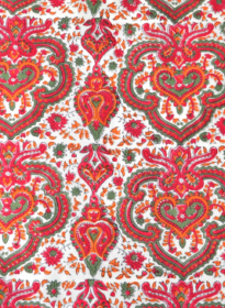 RED/ORANGE PAISLEY