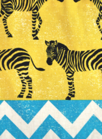 YELLOW ZEBRA (BLUE + RED MULTI BACK)